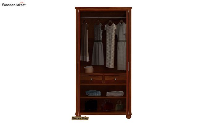 Montana 2 Door Multi-Utility Wardrobe (Honey Finish)-3