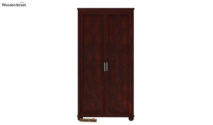 Montana 2 Door Multi-Utility Wardrobe (Mahogany Finish)-2