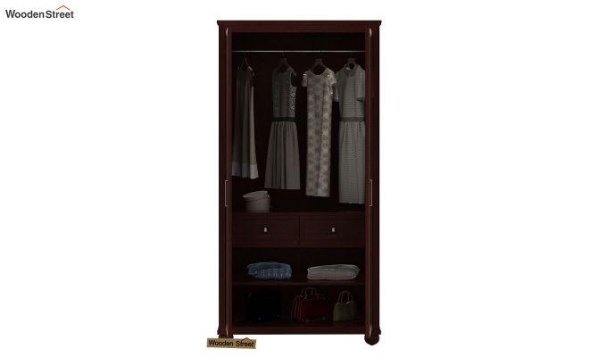 Montana 2 Door Multi-Utility Wardrobe (Mahogany Finish)-3