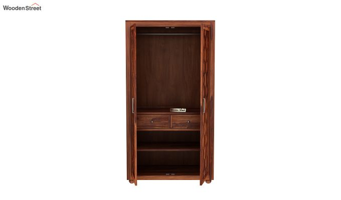 Montana 2 Door Multi-Utility Wardrobe (Honey Finish)-5