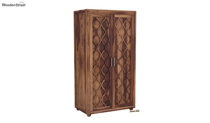 Montana 2 Door Multi-Utility Wardrobe (Teak Finish)-2
