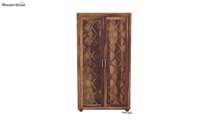 Montana 2 Door Multi-Utility Wardrobe (Teak Finish)-3