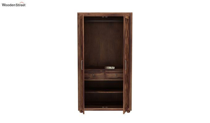 Montana 2 Door Multi-Utility Wardrobe (Teak Finish)-5