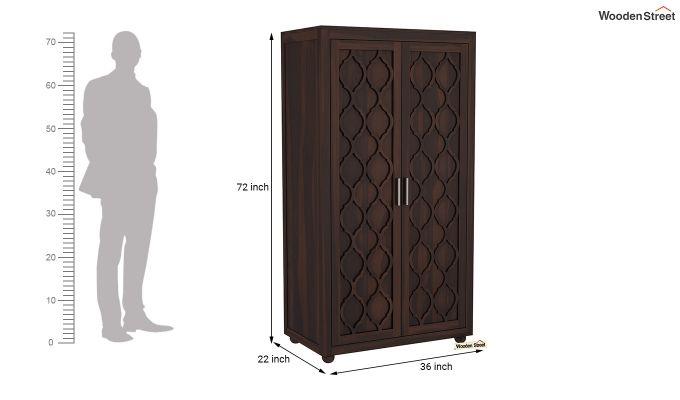 Montana 2 Door Multi-Utility Wardrobe (Walnut Finish)-6
