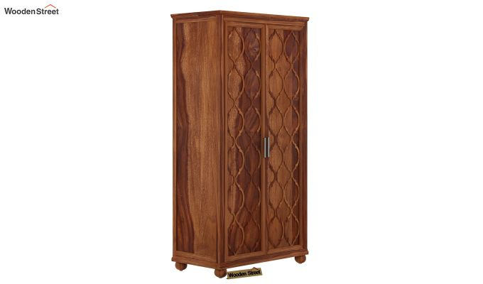 Montana 2 Door Multi-Utility Wardrobe (Teak Finish)-1
