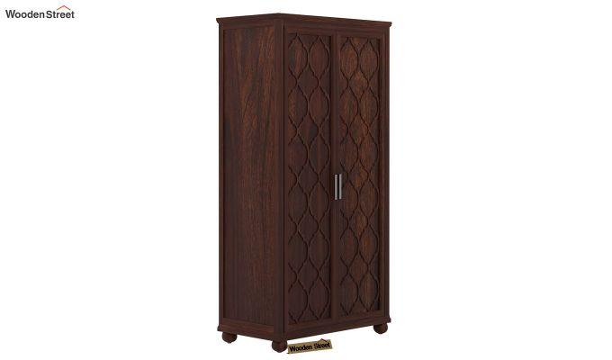 Montana 2 Door Multi-Utility Wardrobe (Walnut Finish)-2