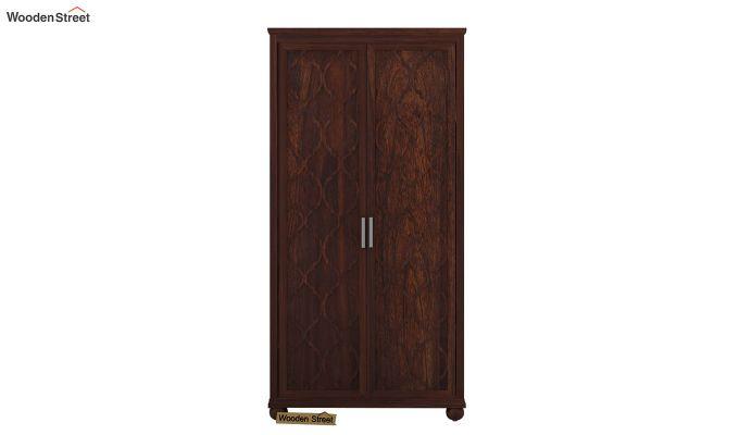 Montana 2 Door Multi-Utility Wardrobe (Walnut Finish)-3