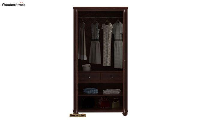 Montana 2 Door Multi-Utility Wardrobe (Walnut Finish)-4