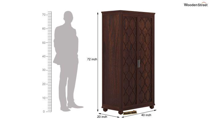 Montana 2 Door Multi-Utility Wardrobe (Walnut Finish)-5