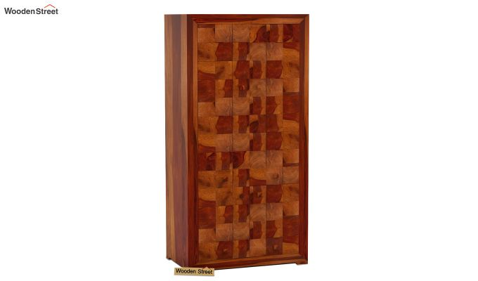 Morse Multi-Utility Wardrobe (Honey Finish)-2