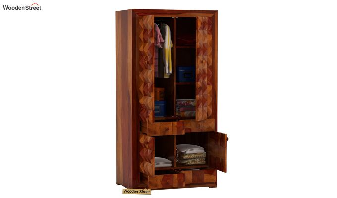 Morse Multi-Utility Wardrobe (Honey Finish)-4