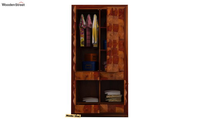 Morse Multi-Utility Wardrobe (Honey Finish)-5