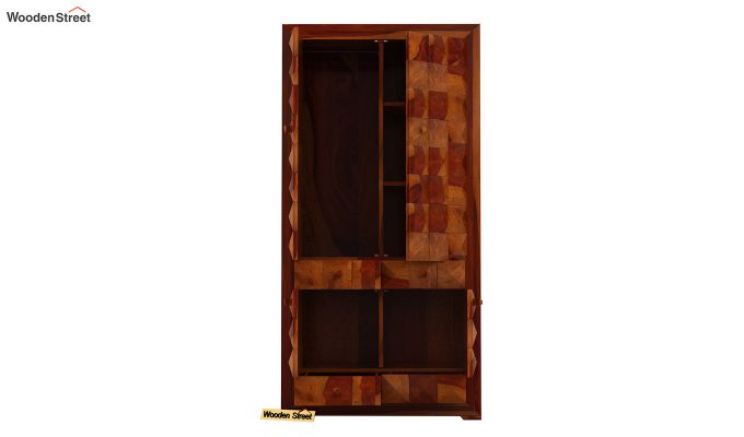 Morse Multi-Utility Wardrobe (Honey Finish)-6