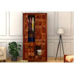 Morse Multi-Utility Wardrobe (Honey Finish)