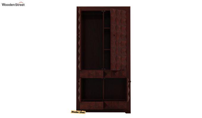 Morse Multi-Utility Wardrobe (Mahogany Finish)-5