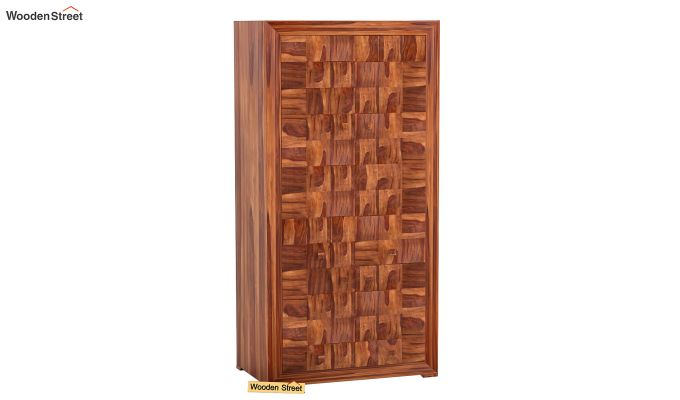 Morse Multi-Utility Wardrobe (Teak Finish)-1