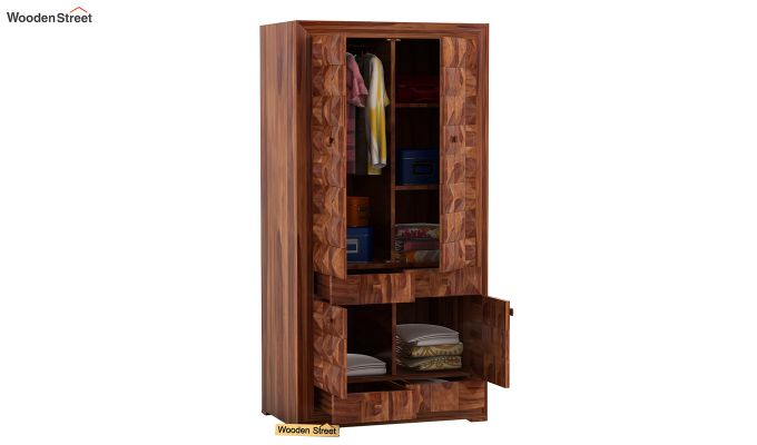 Morse Multi-Utility Wardrobe (Teak Finish)-3
