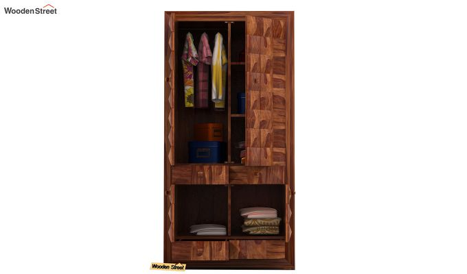 Morse Multi-Utility Wardrobe (Teak Finish)-4