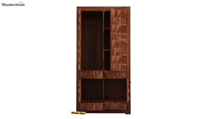 Morse Multi-Utility Wardrobe (Teak Finish)-5
