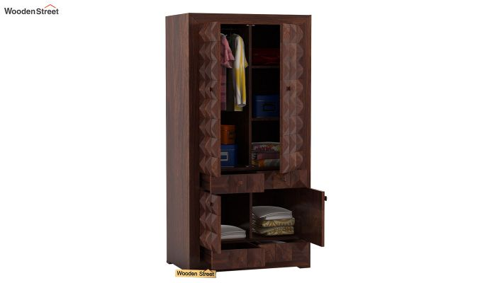 Morse Multi-Utility Wardrobe (Walnut Finish)-3