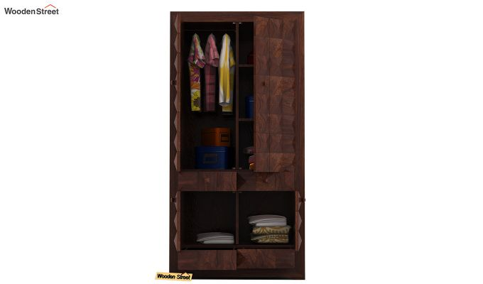 Morse Multi-Utility Wardrobe (Walnut Finish)-4