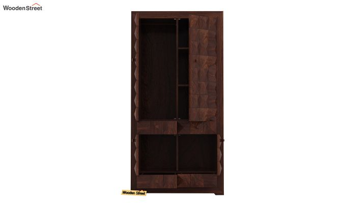 Morse Multi-Utility Wardrobe (Walnut Finish)-5
