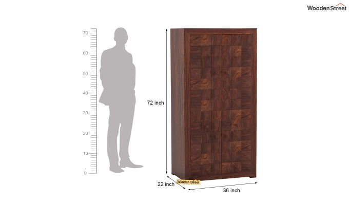 Morse Multi-Utility Wardrobe (Walnut Finish)-6