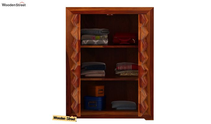Morse Small Size Wardrobe (Honey Finish)-3