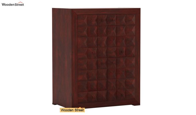 Morse Small Size Wardrobe (Mahogany Finish)-2