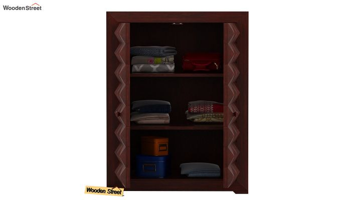 Morse Small Size Wardrobe (Mahogany Finish)-4