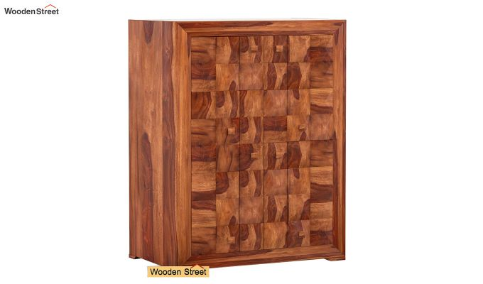 Morse Small Size Wardrobe (Teak Finish)-1