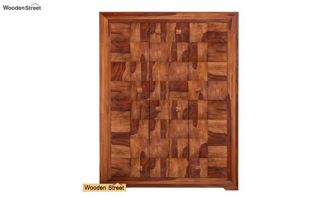 Morse Small Size Wardrobe (Teak Finish)-2