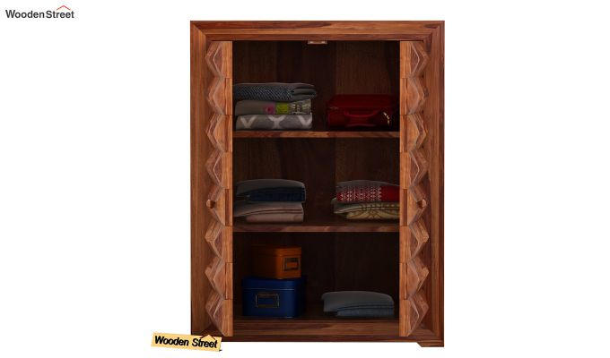 Morse Small Size Wardrobe (Teak Finish)-3