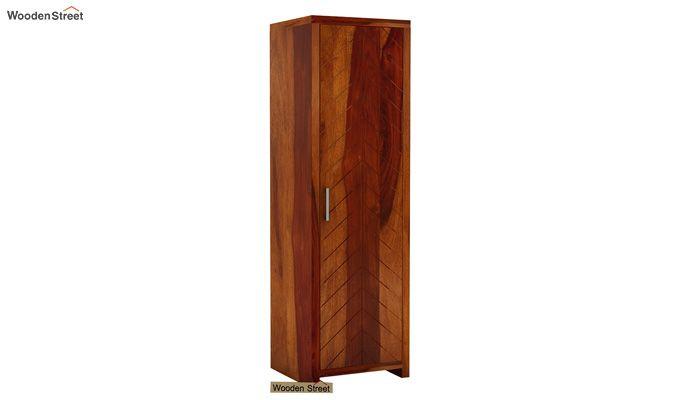 Neeson 1 Door Multi Utility Wardrobe (Honey Finish)-1