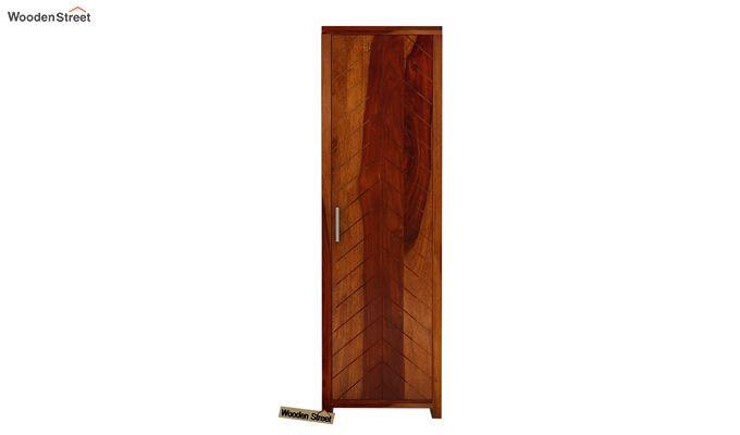 Neeson 1 Door Multi Utility Wardrobe (Honey Finish)-2
