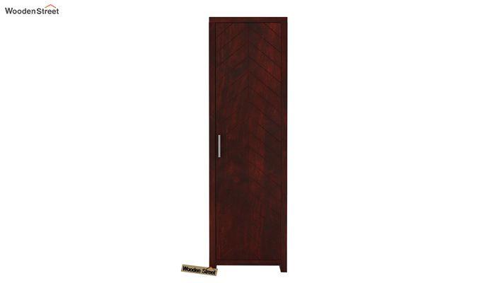 Neeson 1 Door Multi Utility Wardrobe (Mahogany Finish)-2
