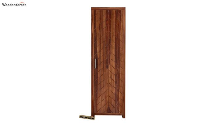 Neeson 1 Door Multi Utility Wardrobe (Teak Finish)-2