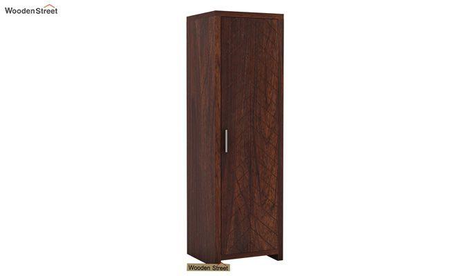 Neeson 1 Door Multi Utility Wardrobe (Walnut Finish)-2