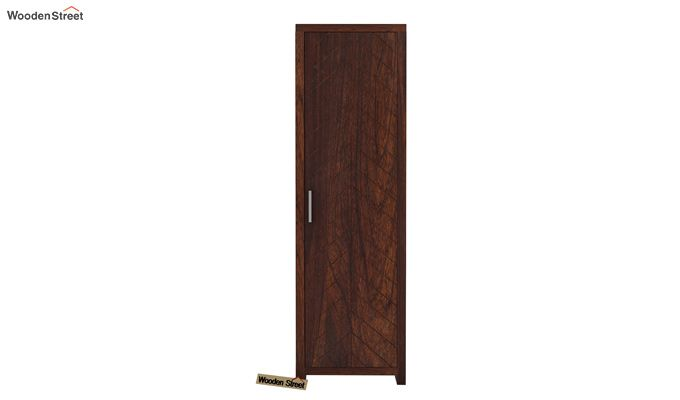 Neeson 1 Door Multi Utility Wardrobe (Walnut Finish)-3