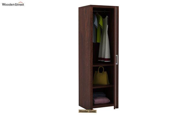 Neeson 1 Door Multi Utility Wardrobe (Walnut Finish)-4