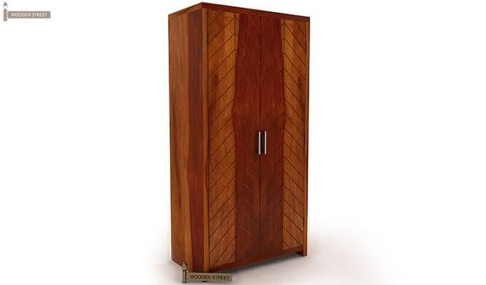 Neeson Multi Utility Wardrobe (Honey Finish)-3