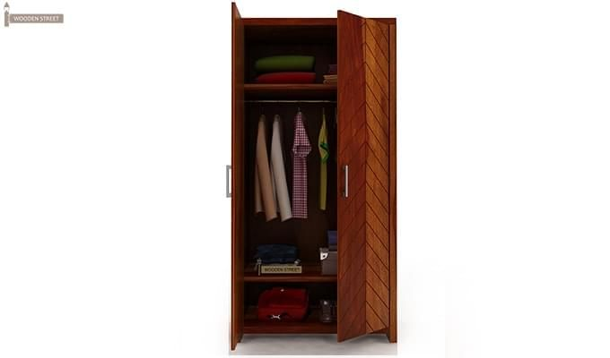 Neeson Multi Utility Wardrobe (Honey Finish)-4
