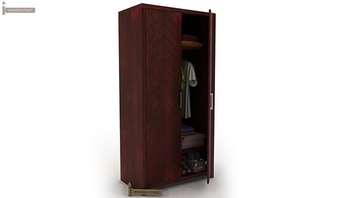Neeson Multi Utility Wardrobe (Mahogany Finish)-1