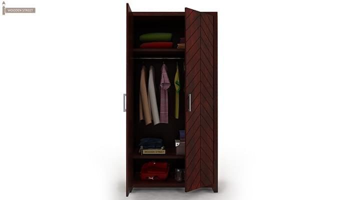 Neeson Multi Utility Wardrobe (Mahogany Finish)-2