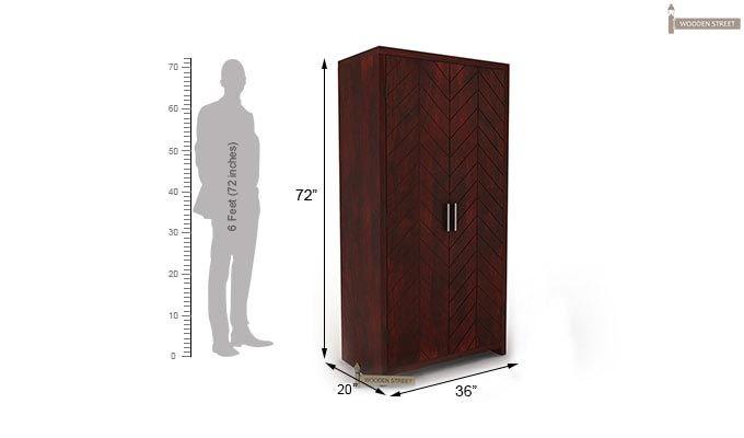 Neeson Multi Utility Wardrobe (Mahogany Finish)-5