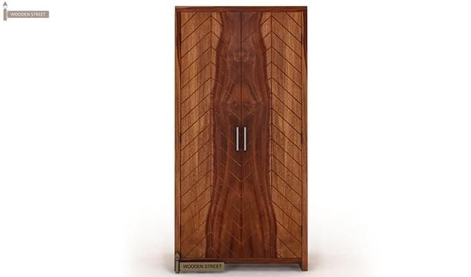Neeson Multi Utility Wardrobe (Teak Finish)-2