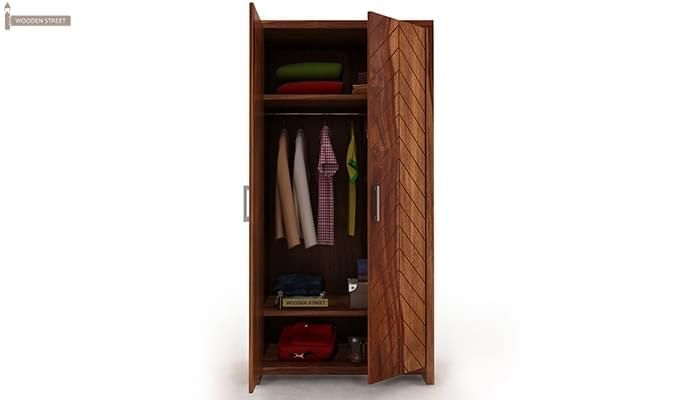 Neeson Multi Utility Wardrobe (Teak Finish)-3