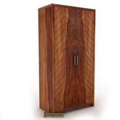 Neeson Multi Utility Wardrobe (Teak Finish)