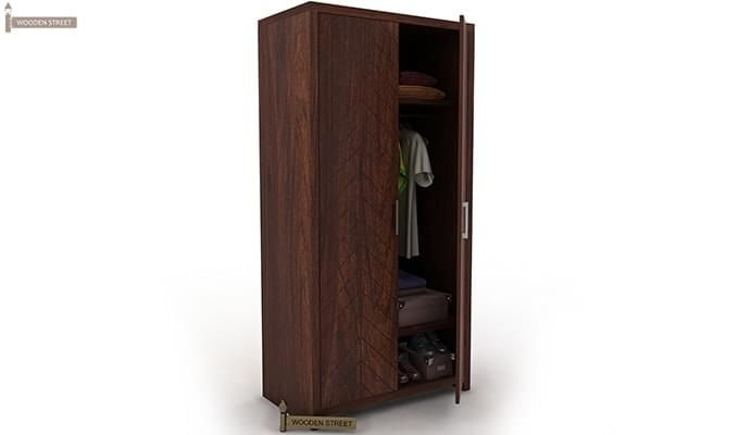 Neeson Multi Utility Wardrobe (Walnut  Finish)-1