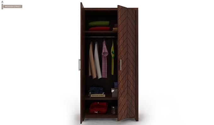 Neeson Multi Utility Wardrobe (Walnut  Finish)-2